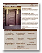 Captiva Fire Door sell sheet
