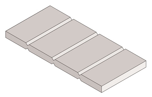 Drawing of Panel Flat V Groove