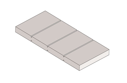 Drawing Panel Flat Square Groove