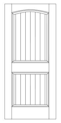 Drawing of 8009B Captiva door