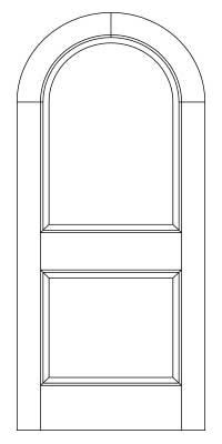 Drawing of 8014R Captiva door