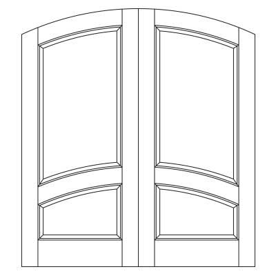 Drawing of 8015P Captiva door
