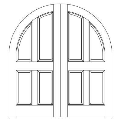 Drawing of 8042P Captiva door