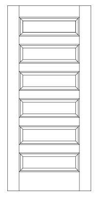 Drawing of 8078 Captiva door