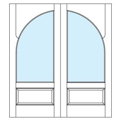 Drawing of 8303P Captiva door