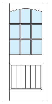 Drawing of 8338B Captiva door