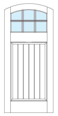 Drawing of 8389B Captiva door