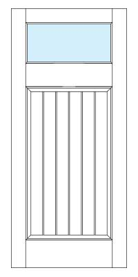 Drawing of 8393B Captiva door