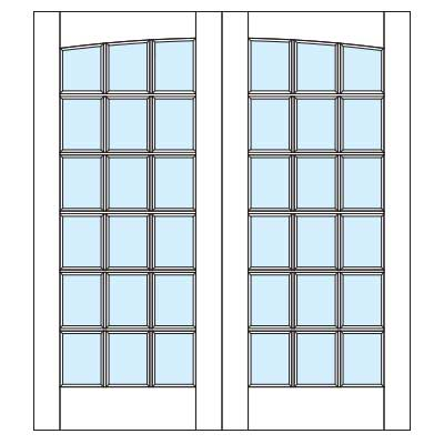 Drawing of 8641P Captiva door