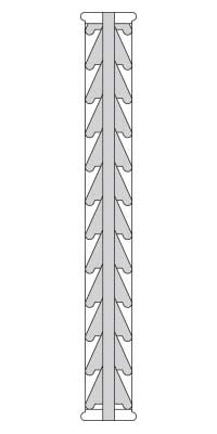 Drawing of full louver detail