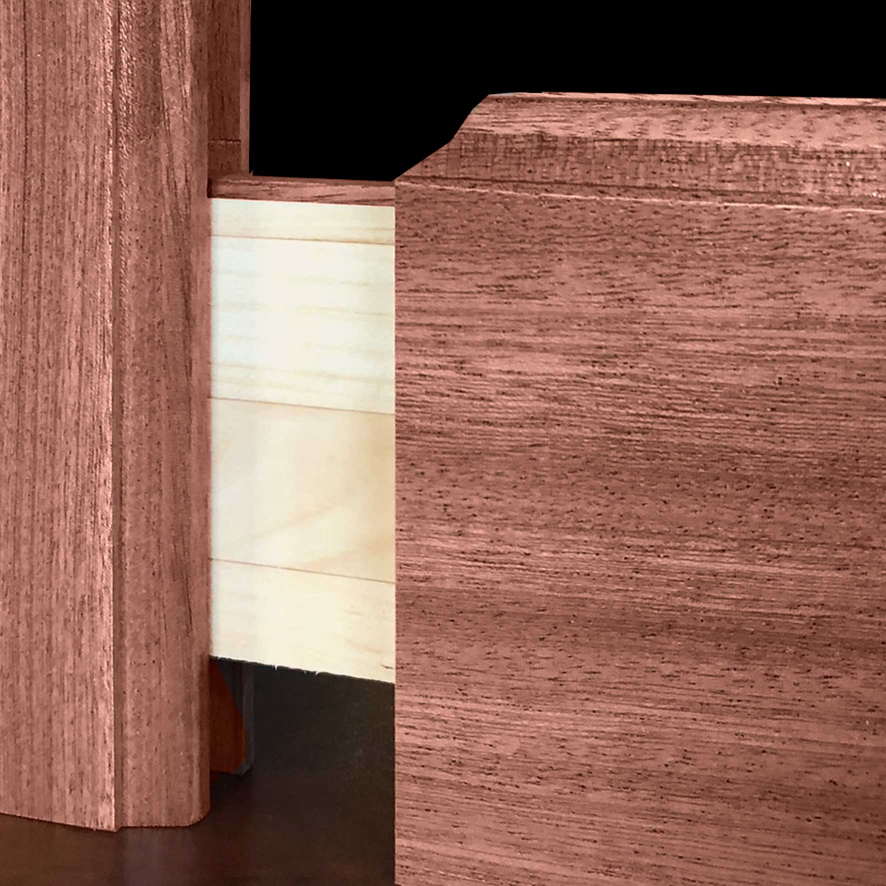 Photo of traditional mortise and tenon