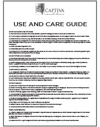 Captiva Use and Care Guide